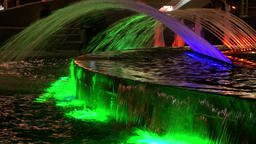 Dancing luminous fountains in Moscow at night ビデオ
