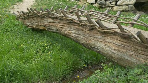 Primitive Wood Footbridge Image
