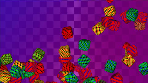 falling cubes colored CG動画素材