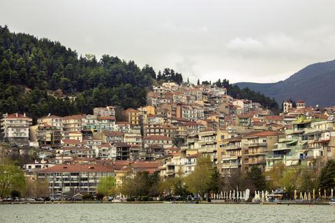 Landscape of the city from lake Fotografía