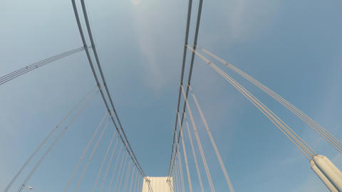 Looking up at the the Verrazano Bridge Footage
