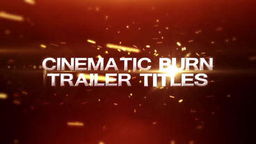 Cinematic Burn Trailer Title After Effects Template