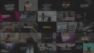 Premier 30 Social Media Titles Pack Premiere Pro Template