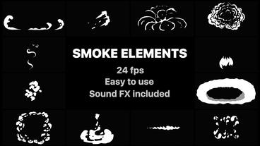 Flash FX Smoke Elements After Effects Template