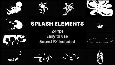 Splash Elements After Effectsテンプレート