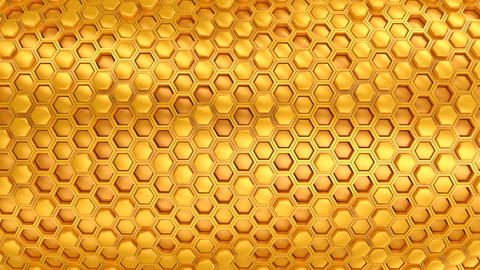 Background of Hexagons CG動画素材