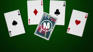 Playing Cards Logo Plantilla de After Effects