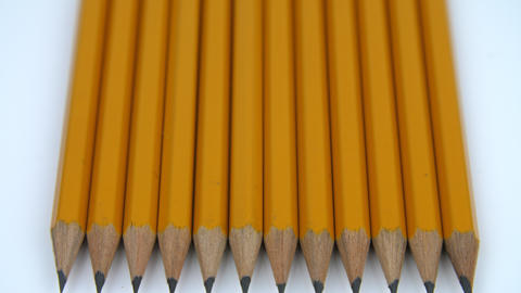 A row of yellow pencils Footage