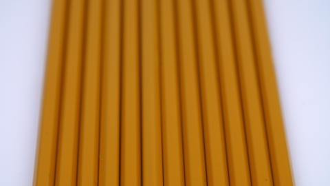 Yellow pencils in a row Footage