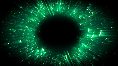Deep and glow green eye form Animation