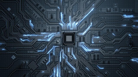 Motherboard Circuit Background Animation