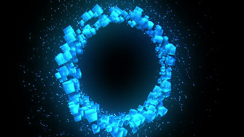 Global business network, Blue Cubes Animation