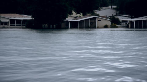 Depiction of flooding after a hurricane Footage