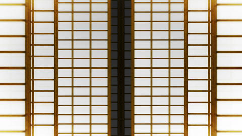 Japanese Style Shoji Door, Sliding Door Loop Animation CG動画