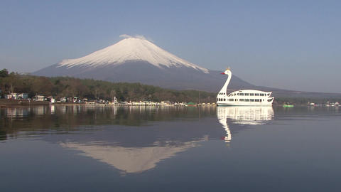 Mt. Fuji, Lake Yamanaka, Japan - 山中湖 富士山 - Zoom Back/Fix/Zoom In stock footage