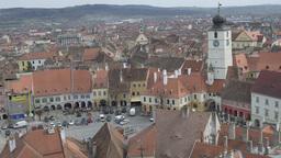 Sibiu Medieval Council Tower Footage