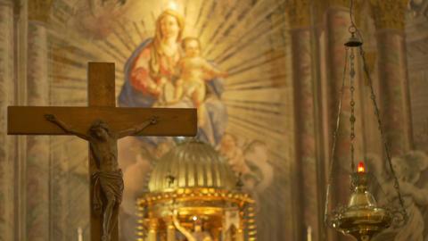 Saint Mary and Jesus Footage