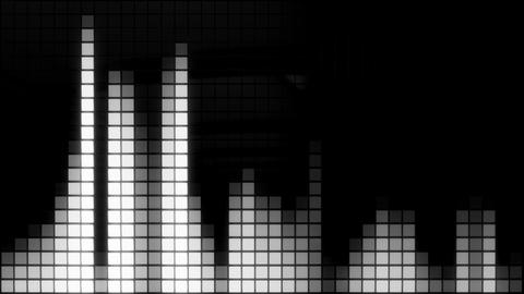 Neon Tiles Wall Light 4K - Equalizer - White Animation