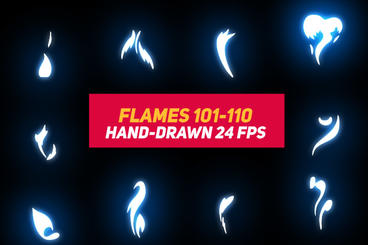 Liquid Elements 2 Flames 101-110 After Effects Template