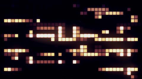 Neon Tiles Wall Light 4K - Random Patern1 - Warm Color CG動画素材