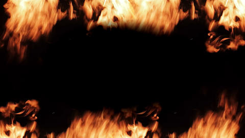 Frame out of the fire for titles loop video Footage
