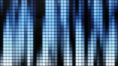 Neon Tiles Wall Light 4K - Vertical Lines - Blue Gradient Animation