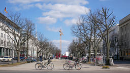 Famous Unter den Linden Boulevard With TV Tower In Background In Berlin, Germany Archivo