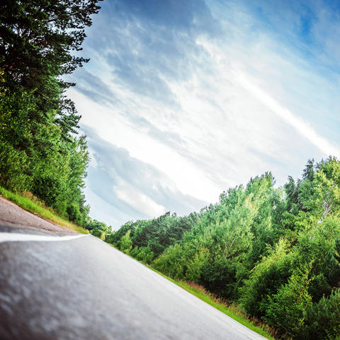 Beautiful highway road Fotografía