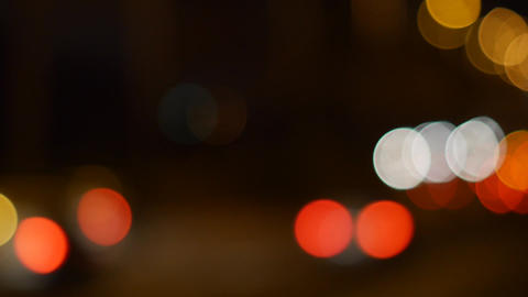 Night City. Background With Car Lights. Defocused Image Of The Night Road. Bokeh Live Action