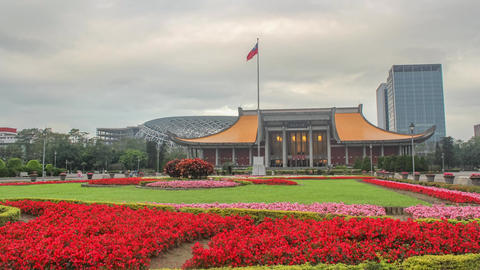 Taipei, Taiwan- Sun Yat-sen Plaza ビデオ