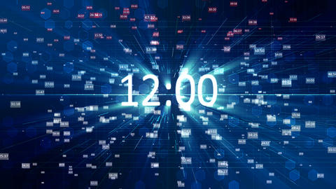 futuristic timer Animation