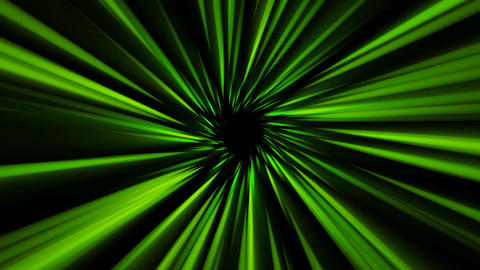 Rays of green light come from center. Energy funnel. Seamless loop abstract Animation