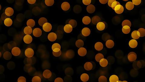 Golden glitter particles on dark background Animation