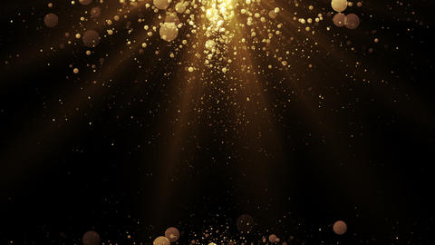 Luxury background with golden particles at the top and bottom Animation