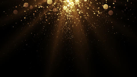 Golden particles. Abstract glamour background for celebration Animation