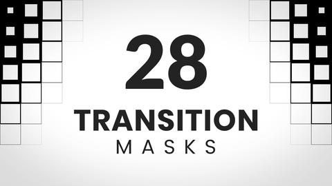 28 transition masks made of squares Animation