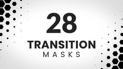 28 transition mask templates made from hexagones Animation