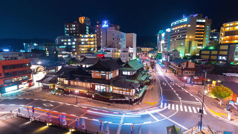 Time-lapse of Dogo Onsen an ancient Japanese bathhouse Footage