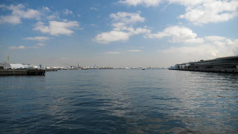Panorama view of Yokohama Port Live Action