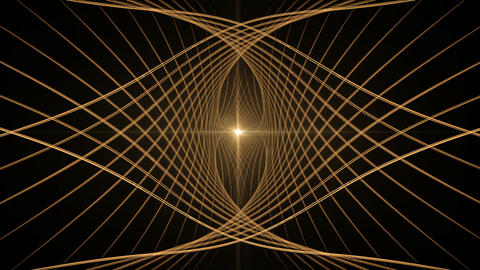Golden Wire with Rays of Light Animation