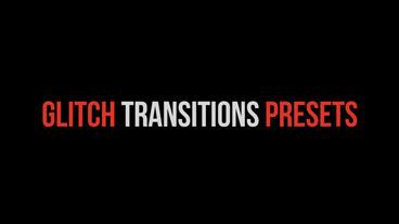Glitch Transitions Presets Premiere Pro Template