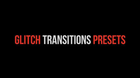Glitch Transitions Presets Premiere Pro Template