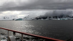 Ice movement and snow iceberg and glacier view from ship in ocean of Antarctica Archivo