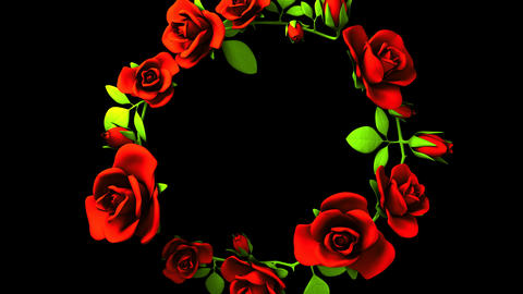 Red Roses Frame On Black Text Space 動画素材, ムービー映像素材