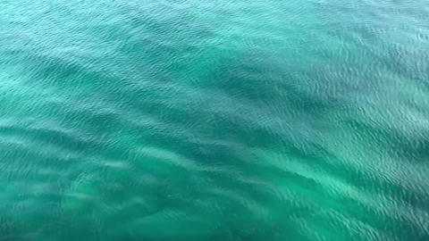 Fine clear wavy sea water with slow movement in nature Footage