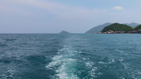 Nature of clear blue wavy sea background Footage