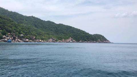Beautiful nature of shore side view with clear sea background Archivo