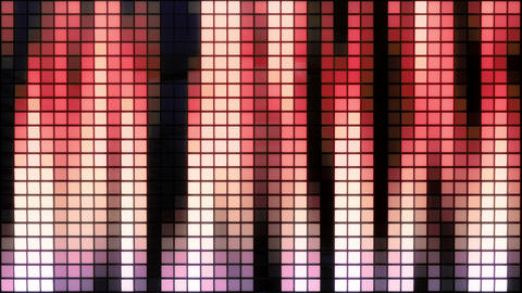 Neon Tiles Wall Light 4K - Vertical Lines - Colorful Animation