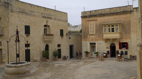 Walking along the medieval streets of old Mdina. Mdina is populer tourist destin Live Action