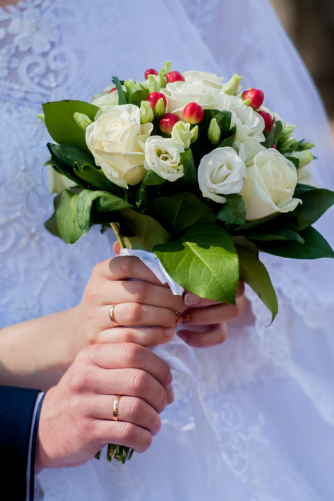 Bride bouquet, natural, rose, style, bunch, holiday, color, day フォト